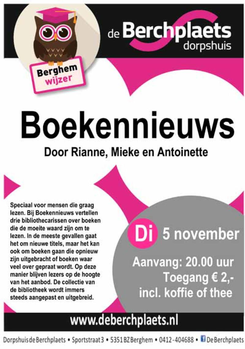 Mooiberghem Nl Dinsdag 5 November Boekennieuws In De Berchplaets
